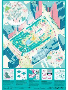 Estas son las propuestas que compiten para remodelar la Plaza España en Madrid,Codigoabierto. Image © Difusión Ayuntamiento de Madrid