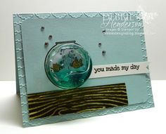 "Debbie's Designs: Tuesday Tips or Techniques-Gel Water!... I wanted to use a ""Circle Treat Cup"" and fill it with something.....but what? I remembered reading somewhere where someone used Antibacterial Hand Gel and thought I would give it a shot. Here is the card for today's technique:"