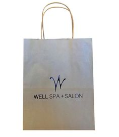Well Spa & Salon - Tinted Paper Shopping Bag hot stamped http://actionbag.com/tinted-shopping-bags/p/TR50308/