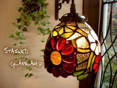 ヨーロピアンスタイルのペンダントランプ。アンティーク調ステンドグラスペンダントランプ マーガレットフラワーS624 E17 灯具真鍮色 レトロフレンチカントリーガラス照明ペンダントライト 雑貨通【RCP】