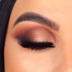Gorgeous 💖💖💖 - Make Up Smoke Eye Makeup, Bronze Eye Makeup, Makeup Eye Looks, Eye Makeup Steps, Eye Makeup Art, Beautiful Eye Makeup, Glam Makeup, Skin Makeup, Eyeshadow Makeup
