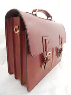 English Bridle Leather briefcase