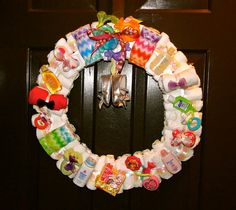 My Original Diaper Wreath 2nd Edition -A full tutorial on how to create this popular wreath!