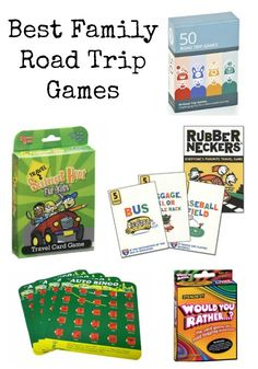 Best best family road trip games to take along on all of your vacations this summer.