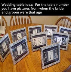 Table numbers- great idea for birthdays as well.
