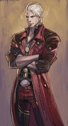 Devil may cry 4 Epic Characters, Video Game Characters, Kaito, Avatar Fan Art, Nerd Show, Dante Devil May Cry, Demon Hunter, Hot Anime Guys, Anime Demon