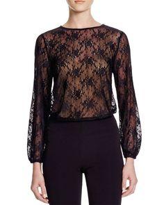 Aqua Lace Illusion Bodysuit - 100% Bloomingdale's Exclusive
