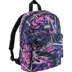 MUDDY GIRL PURPLE PINK CAMO WESTERN COWGIRL BACKPACK SCHOOL WORK TRAVEL PURSE $44.99