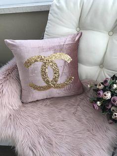 Gold sequin pillow case bridal shower Sleeping Beauty