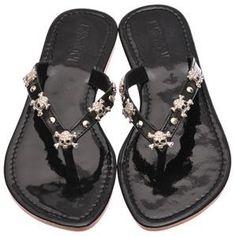 'Buccaneer Babe Rhinestone Flat Sandals' on Wish