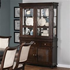 Shop Harris Transitional Dark Cherry Wood Glass China (Buffet/Hutch) with great price, The Classy Home Furniture has the best selection of to choose from China Buffet, Buffet Hutch, Dining Buffet, Coaster Fine Furniture, Dining Furniture, Painted Furniture, Furniture Ideas, Dining Room Sets, Dining Room Design