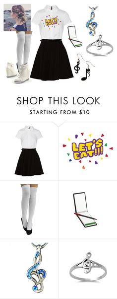 """Working as a Waitress"" by ultimatefangirl-459 ❤ liked on Polyvore featuring Alice + Olivia and Tatty Devine"