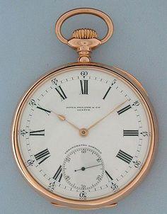 14c1d0d8a Antique Pocket Watches created by - Patek Philippe Chronometro Gondolo
