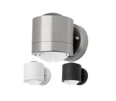 Emerson 6w LED Up Down Outdoor Wall Light  White  Black or Stainless Steel  MercatorBrugge 10w LED Up Down Square Aluminium Exterior Wall Light Cougar  . Marine Grade Stainless Steel Outdoor Wall Lights. Home Design Ideas