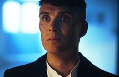 Cillian Murphy as Tommy Shelby, swallowing. :D