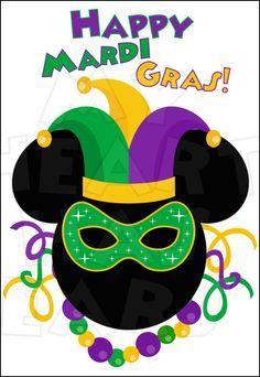 Mardi Gras Mickey Mouse INSTANT DOWNLOAD digital clip art :: My Heart Has Ears