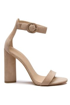 GISELLE LIGHT NATURAL SUEDE SANDAL SHOES by KENDALL + KYLIE
