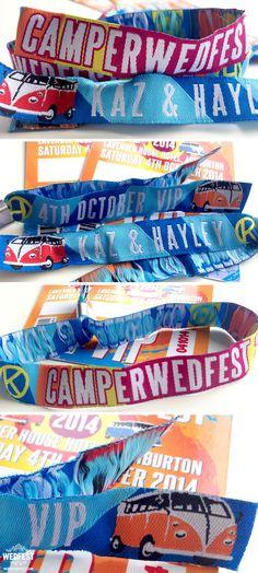 vw campervan festival wedding wristbands http://www.wedfest.co/campervan-wedfest-wedding-stationery/