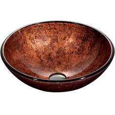 Lowes - $74.96  VIGO Copper Glass Vessel Round Bathroom Sink