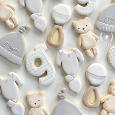 Summer Cookies, Cookies For Kids, Baby Cookies, Baby Shower Cookies, Cut Out Cookies, Baby Shower Cakes For Boys, Baby Shower Themes, Baby Boy Shower, Baby Shower Decorations