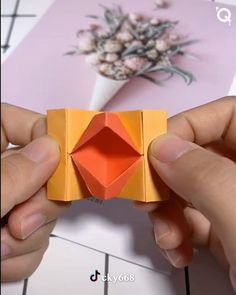 Paper Crafts - Creative ideas about paper crafts. -Beautiful Paper Crafts - Creative ideas about paper crafts. - Pretty And Amusing Origami Ideas - DIY Tutorials Videos Paper Flowers Craft, Paper Crafts Origami, Easy Paper Crafts, Origami Art, Diy Arts And Crafts, Flower Crafts, Diy Paper, Paper Crafting, Diy Flowers