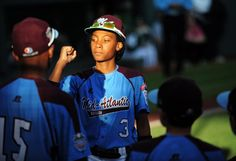 """Little League standout Mo'ne Davis 13-year-old pitcher in 2014 Little League World Series. Poised young lady who understands already she can say """"No"""" to the media and dumb questions."""
