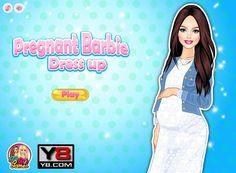 Piękna Barbie spodziewa się dziecka! Czas dobrać ubrania dla mamy w zaawansowanej ciąży.