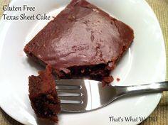 texas sheet cake-gluten free
