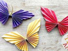 Easy Paper Butterfly Origami - Cute & Easy Butterfly DIY - Origami for Beginners Diy Origami, Origami Butterfly Easy, Butterfly Crafts, Basic Origami, Oragami, Cool Paper Crafts, Diy Paper, Easy Crafts, Crafts For Kids