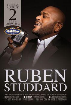 Ruben Studdard (8.2.16) / Tix @ http://www.ticketmaster.com/event/00005077C023476B?brand=bbkingblues&camefrom=cfc_bbking_pinterest