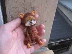 OOAK bewegliches fantasy Wesen FUCHS. Auch fürBLYTHE. Fox 9 cm Künstlerpuppe Monsterchen Handgemacht polymer clay figur auch BJD doll Toy von NiceMiniThings auf Etsy