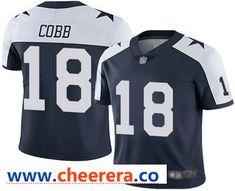 b7a54d3075f Men's Dallas Cowboys #18 Randall Cobb Blue Thanksgiving 2018 Vapor  Untouchable Stitched NFL Nike Limited