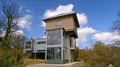 Grand Designs Season 6 the Ashford Watertower. Great episode and completely transformed the structure. the quality of the experience and the light in the house was fab and then they added on a deck outside later too. all surrounded by trees so it sat nicely in it surroundings.