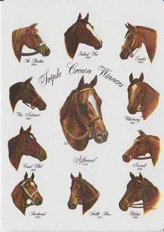 Horse racing's Triple Crown winners.