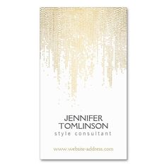 Dotted Pattern in Gold Business Card Template - perfect for freelance makeup artists, stylists, beauty advisors, hair salons, interior designers and more - ready to personalize