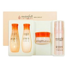 #Etude #House #Moistfull #Collagen #Skin #Care #Kit (Travel #Size #Toner + #Emulsion + #Essence + Cream) + #SoltreeBundle #Natural #Hemp #Paper #50pcs The small particles of the super #collagen water and Baobab water in the #Moistfull #Collagen Set, endlessly provide moisture and leave your #skin feeling very hydrated. 1 x #Etude #House #Moistfull #Collagen Facial #Toner 20ml 1 x #Etude #House #Moistfull #Collagen Facial #Emulsion 20ml https://skincare.boutiquecloset.com/prod