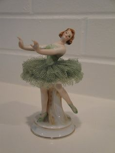 Stunning porcelain ballerina figurine made in Occupied Japan, which is marked on the bottom. Description from etsy.com. I searched for this on bing.com/images