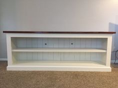 Build a Farmhouse Style TV Console/Sideboard DIY Rustic Farmhouse Style Sideboard By Mary From Remodelaholic Tutorial Always wanted to learn how to knit, nonetheless. Farmhouse Tv Stand, Rustic Farmhouse, Farmhouse Style, Farmhouse Vanity, Rustic Cottage, Farmhouse Ideas, Farmhouse Furniture, Furniture Plans, Diy Furniture