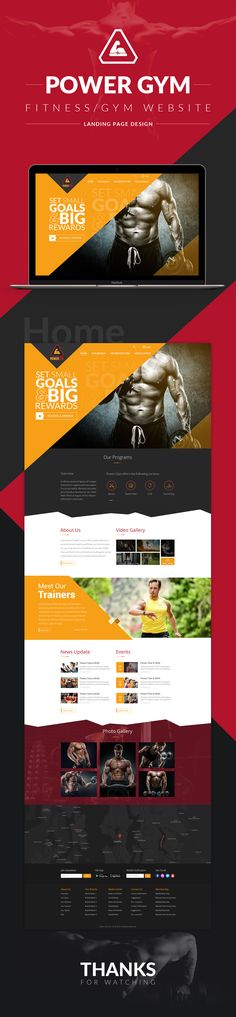 Gym/Fitness Website Landing Page