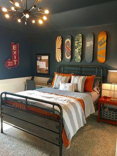Cool Bedrooms For Boys, Big Boy Bedrooms, Trendy Bedroom, Awesome Bedrooms, Bedroom Boys, Boy Rooms, Warm Bedroom, Childrens Bedroom, Modern Bedrooms