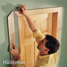 The Best Carpentry Tips and Advice--Holding trim in place and marking it is always more accurate than measuring, often faster and it eliminates mistakes. This is good advice for other types of carpentry work too, like siding, laying shingles and sometimes even framing.