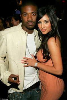Tenth anniversary: A sex tape Kim Kardashian made with boyfriend Ray J in 2003 was published in March 2007. It catapulted her to international fame. The two are pictured in 2006
