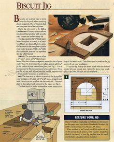 Router Biscuit Jig - Biscuit Joiner Tips, Jigs and Fixtures | WoodArchivist.com