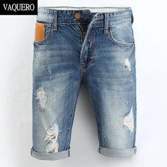 Barato Dos homens de 2015 novo verão , Casual joelho de comprimento curto Bermuda Masculina buraco Shorts Jeans para homens 226, Compro Qualidade Shorts diretamente de fornecedores da China:                        2015 nova chegada de alta qualidade Mens Jeans Curto Homens shorts jeans Bermuda Shorts Plus Size
