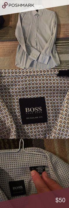 Hugo Boss men's size medium button down Hugo boss men's size medium button down, worn once and is too small for my bf! Hugo Boss Shirts Dress Shirts