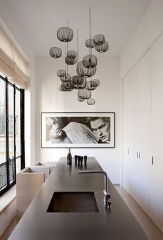 Masculine contemporary and classy interior design minimalist kitchen room space #CroscillSocial