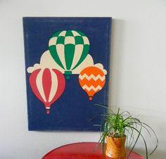 vintage marushka hot air balloon canvas print