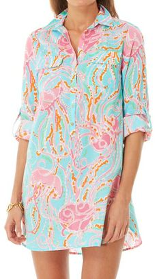 Lilly Pulitzer Captiva Tunic Cover-Up in Jellies Be Jammin