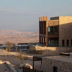 Beresheet Hotel overlooking Israel's Negev Desert by architects Yehuda Feigin, Dov & Yoel #architecture
