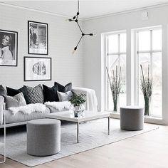 wohnzimmer grau grauer teppich weißer bodenbelag skandinavisch ...